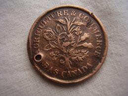 CANADA-LOWER CANADA 1838 UN (1) SOU COPPER COIN USED. (HG5) - Canada