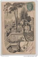 Beautiful Art Nouveau Card Depicting A Classical Greek / Roman Theme - Ancient World