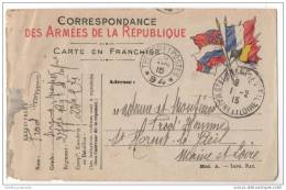 French Military Correspondence From WW1 - Des Armees De La Republique - War 1914-18