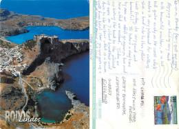 Lindos, Rhodes, Greece Postcard Posted 2001 Stamp - Grecia