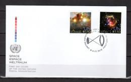 """ONU (New-York) 2013 : Enveloppe 1er Jour FDC """" ESPACE / GALAXIE / ETOILES """". Voir Scan. Parfait état. - Raumfahrt"""