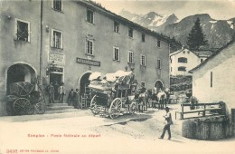 SWITZERLAND - SIMPLON - POSTE FEDERALE AU DEPART - HOTEL - GREAT VIEW! - V/F VINTAGE ORIGINAL POSTCARD - VS Valais