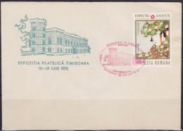 8144. Romania 1970 Philatelic Exhibition In Timisoara, Cover - 1948-.... Républiques