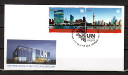 "ONU (New-York) 2010 : Enveloppe 1er Jour FDC "" EXPO SHANGHAI 2010 "". Voir Scan. Parfait état - 2010 – Shanghai (Chine)"