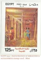 EGYPT 2002 - INAUGURATION OF BIBLIOTHECA ALEXANDRINA Stamp Card - Mint - Nuovi