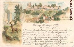 GRUSS AUS CIREY ET SES ENVIRONS RAMBIROCHE RUINES DE PIERRE-PERCEE MAZERAND 1900 LORRAINE METZ - Cirey Sur Vezouze