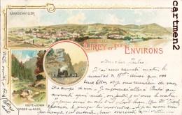 GRUSS AUS CIREY ROMELSTEIN TRAIN ABRESCHVILLER ROUTE DONON AILLS MAZERAND 1900 LORRAINE METZ - Cirey Sur Vezouze