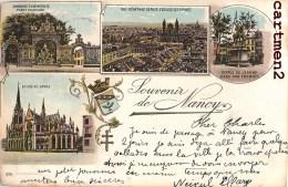 SOUVENIR DE NANCY 1897 MULTIVUES STYLE GRUSS 1900 Famille Louyot Rue Mazelle Metz - Nancy