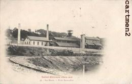 Rare Cpa : Saint-etienne Chez-soi Ses Mines Puits Ferrouillat Train Locomotive Wagons 1900 Industrie Usine 42 Loire - Saint Etienne