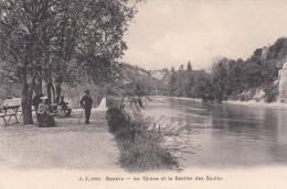 G , Cp , SUISSE , GENÈVE , Le Rhône Et Le Sentier Des Saules - GE Ginevra