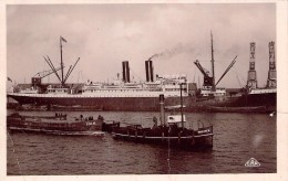 """Cpa Casablanca Remorquer """" Moghreb """" """"Meknès """"  Cie Générale Transatlantique Maroc Barge B.M.M - Sleepboten"""