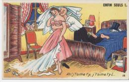 HUMOUR  /  PIN UP   ED A.P.F    N° 18   ANNEE 50/  60    CPA 9 X 14  NEUVE - Humour