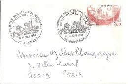 FRANCE  -  BORDEAUX 1984  CONGRES NATIONAL - CHEVAUX - Chevaux