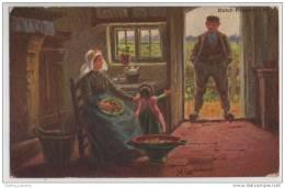 Artist Signed Johan Georg Gerstenhauer  Dutch Peasant Life - Other Illustrators