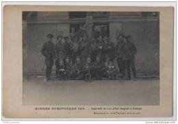 Early WW1 British Soldiers With Locals At Nantes, France - War 1914-18