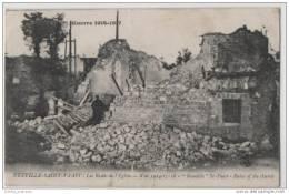 WW1 Neuville Saint  Vaast - Ruins Of The Church At Neuville - War 1914-18