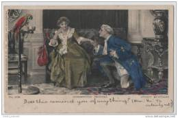 Artist Illustrated & Hand Coloured Sydney Muschamp - The Interupted Proposal - Women