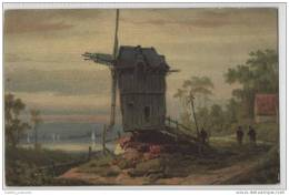 Old Wooden Windmill - Art Card - Windmills