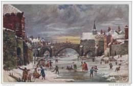 The Old Ouse Bridge, York, Yorkshire, England (Bridge Removed In 1809) Winter - Bridges