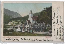 Brudefolge Hardanger Norge - Wedding Party In Hardanger - Norway - 1901 - Marriages