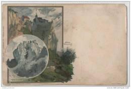 Chromo Litho - Schloss Werenwag & Schloss Bronnen (Villingen - Ibaden Postmark) - Illustrators & Photographers