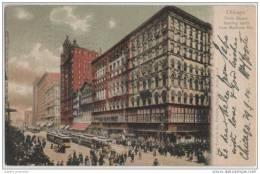 Chicago Slate Street - Animated - Trolley Buses  & Businesses - New York & Chicago Postmarks - Shops