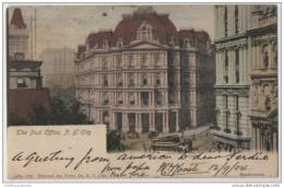 Hand-coloured - New York City Post Office (1904) With Triple Postmarks - USA & South Africa - Postal Services