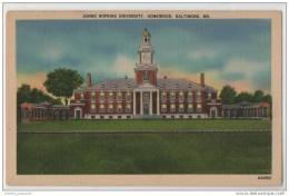 Johns Hopkins University Homewood Baltimore MD (Maryland USA) - Linen Card - Schools