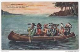 Native American Indians In Canoe - Hiawathas Sailing - Native Americans