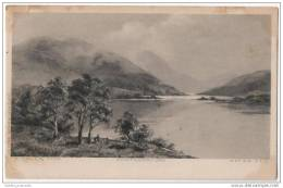 H. Colls, Pinx - Photogravure  - Lake & Mountain Composition - Illustrators & Photographers