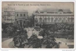 Argentina - Banco De La Nacion Y Calle Reconquista, Buenos Aires - Argentina