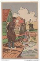 Wonderful Atist Illustrated Card - Volendam - Holland - Traditional Rural Scene - Volendam