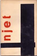Tijdschrift Poezie Litteratuur NJET - Declercq - Deroose - Fontier - Vander Straeten - Van Maele - Knokke  Heist 1/1958 - Poetry