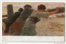 Gino Piccioni - Laverno Presso Il Mare - Working On The Sea Shore - Illustrators & Photographers