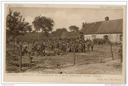 Thirsty German Prisoners In Their Barbed Wire Cage - Official War Photograph - War 1914-18