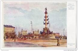 Austria - Artist Signed Erwin Pendl - Wien, II. Praterstern Mit Tegetthoff-Denkmal - Vienna