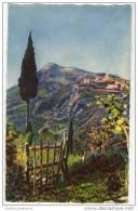 France - Le Villiage De La Turbie Vu De La Grande Corniche - Artist Illustrated Art Card - Illustrators & Photographers