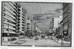 Montevideo - Rep. O. Del Uruguay - Bulevar Espana - Silver Foil Card (1950's) - Uruguay