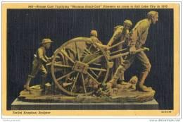 Torliet Knaphus Sculptor - Mormon Hand-cart Used By Early Pioneers - Linen Card - Religions & Beliefs