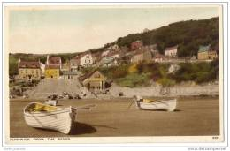 Runswick Bay Yorkshire (Near Whitby) From The Sands - Handcoloured Real Photo - Whitby