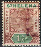 ST. HELENA - 1890 - EFFIGIE DELLA REGINA VITTORIA - 1 E 1/2 P. - USATO - Isola Di Sant'Elena
