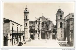 Cuba - Havana - Cathedral - Real Photo Postcard - Cuba