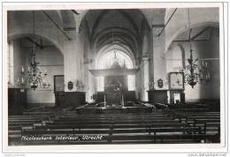 Utrecht - Nicolaaskerk Interieur  - Real Photo Card - Utrecht
