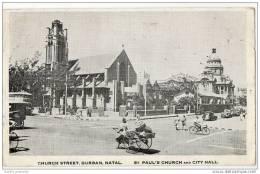Church Street, Durban, Natal - St Pauls Church & City Hall - 1942 H.M Forces Visit - South Africa