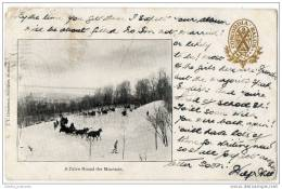 Canada - Montreal - Private Mailing Card - A Drive Round The Mountain - Horses & Sleigh - Montreal