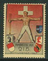 Suisse /Schweiz/Switzerland // Vignette Militaire  //HD-Arbeitsdienst, Arbeits-Kp. 215 No. 27 (papier Chamois) - Soldaten Briefmarken