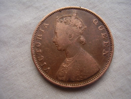 INDIA  REGAL COINAGE (BRITISH) 1862 HALF ANNA COPPER COIN USED.(GH12) - Inde