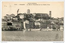 France - Cannes - Le Mont Chevalier Et La Vielle Ville (1919) - Cannes