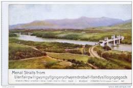 Menai Strait From Llanfairpwllgwyngyllgogerychwyrndrobwllllantysiliogogogoch (1936) - Anglesey