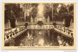 Sevilla -  Exposicion Ibero Americana - Glorieta De Los Quintero - Sevilla
